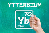 Symbol for the chemical element ytterbium — Photo
