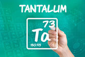 Symbol for the chemical element tantalum — Stock Photo