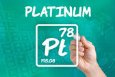 Symbol for the chemical element platinum — Stock fotografie