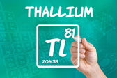 Symbol for the chemical element thallium — Photo