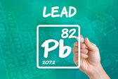 Symbol for the chemical element lead — Foto Stock