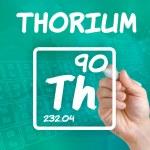 Symbol for the chemical element thorium — Stock Photo #30600369