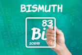 Symbol for the chemical element bismuth — Stock Photo