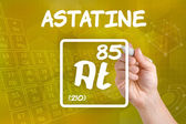 Symbol for the chemical element astatine — Stock Photo