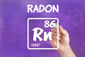 Symbol for the chemical element radon — Zdjęcie stockowe