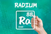 Symbol for the chemical element radium — Photo