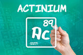 Symbol for the chemical element actinium — Zdjęcie stockowe
