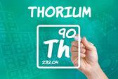 Symbol for the chemical element thorium — Stock Photo