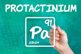 Symbol for the chemical element protactinium — Photo