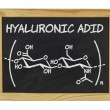 Stock Photo: Chemical formulof hyaluronic acid