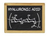 Chemical formula of hyaluronic acid — Stock Photo