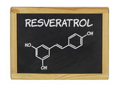 Chemical formula of Reveratrol on a blackboard — 图库照片