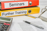 Folders with the label Seminars and Further Training — Stock Photo