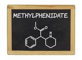 Chemical formula of methylphenidate — Stock Photo