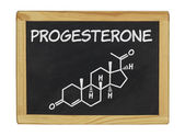 Chemical formula of progesterone — Stockfoto