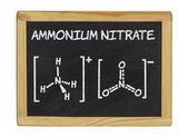 Formule chimique du nitrate d'ammonium — Photo