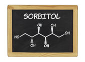 Chemical formula of sorbitol on a blackboard — Stock Photo