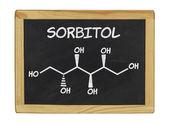 Chemical formula of sorbitol on a blackboard — ストック写真