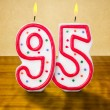 Burning birthday candles number 95 — Stockfoto #42521609