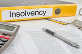 Folder with the label Insolvency — Stock Photo