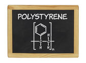 Chemical formula on a blackboard — Foto Stock