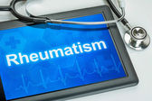 Tablet with the diagnosis rheumatism on the display — Stock Photo