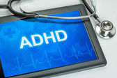 Tablet with the diagnosis adhd on the display — Stock Photo