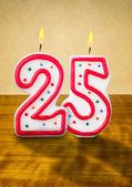 Burning birthday candles — Stock Photo