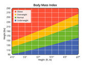 Body Mass Index in lbs and ft, in — Stock Photo