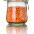 Red lentils in a jar — Stock Photo #45739257