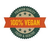 Label with the text vegan — 图库照片