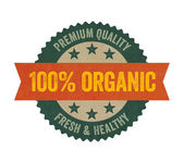 Label with the text Organic — Foto de Stock