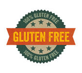 Label with the text Gluten free — Foto de Stock