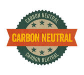 Label with the text Carbon neutral — Stock Photo