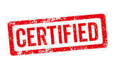 Red Stamp - Certified — Foto Stock