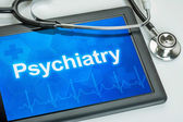 Tablet with the medical specialty Psychiatry on the display — Stock Photo
