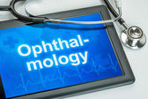 Tablet with the medical specialty Ophthalmology on the display — Foto de Stock