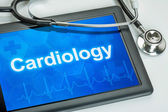 Tablet with the medical specialty Cardiology on the display — Stock Photo