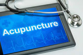 Tablet with the text Acupuncture on the display — Stock Photo