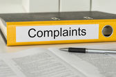 Folder with the label Complaints — Stock Photo