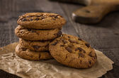 Close up of several chocolate cookies — Stock Photo