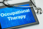 Tablet with the text Occupational Therapy on the display — Stock Photo