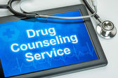 Tablet with the text Drug Counseling Service on the display — Stock Photo