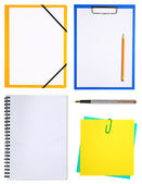 Notepads isolated on white — Stock Photo