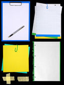 Notepaper isolated on black — Stock Photo