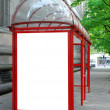 Bus shelter with space for advertising — Stock Photo