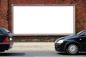 Billboard in the street — Stock Photo