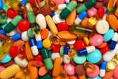 Colorful pills, tablets and capsules — Stock Photo