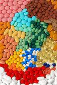 Varias píldoras, tabletas y cápsulas — Foto de Stock