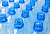 Blue plastic bottles — Stock Photo